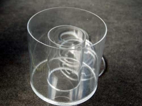 acrylic skimmer collection cup assembled