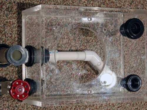 Finished acrylic skimmer base