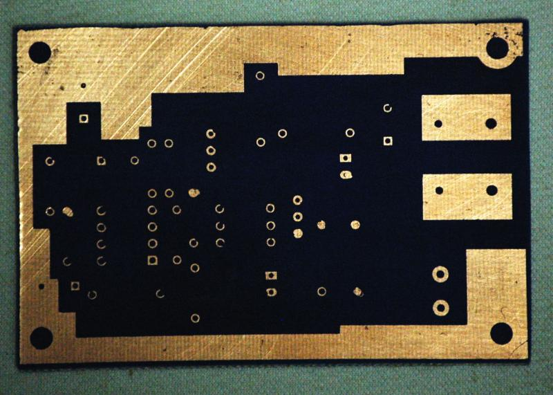 DIY Etched 555 timer pcb photo