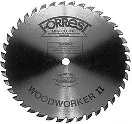 Forrest Wood Worker II 40TR ATB Saw Blade