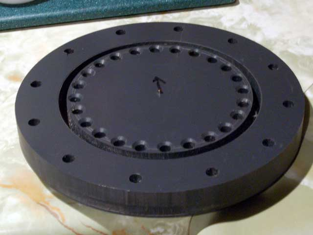 Skimmer Tube Base Flange with Hole Drilled