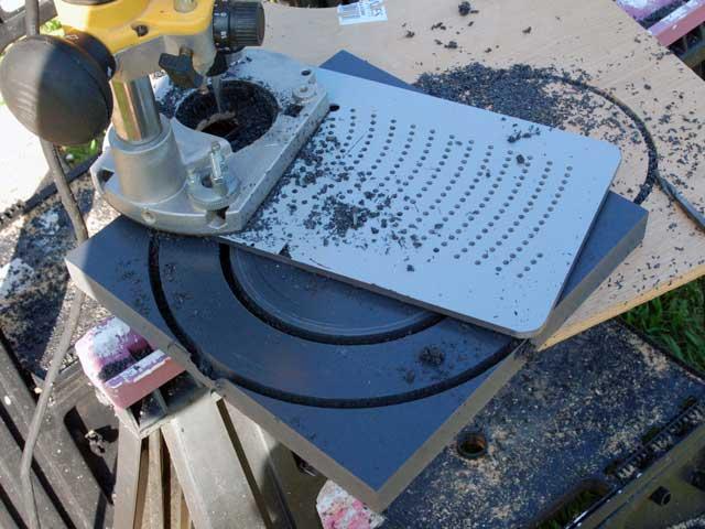 Cutting Base Flange With Jasper Circle Jig